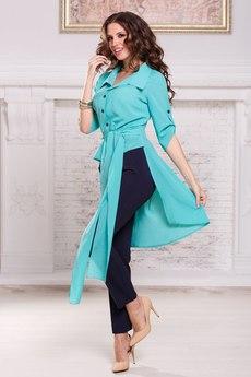 Блузка со шлейфом и короткими рукавами и поясом Angela Ricci со скидкой