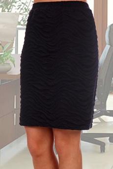 Черная трикотажная юбка Натали