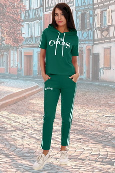 Зеленый летний костюм в спортивном стиле Натали