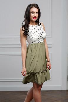 Платье оливкового цвета Look Russian