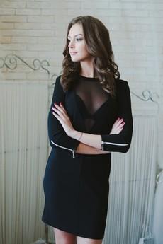 Платье с прозрачным декольте Look Russian