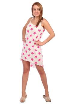 Сорочка с розовыми звездами ElenaTex