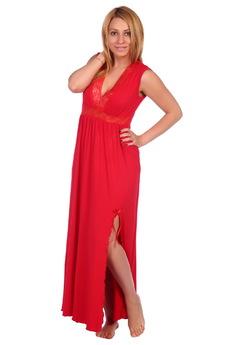 Красная длинная ночная сорочка ElenaTex
