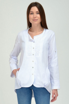 Белая льняная блузка Viserdi