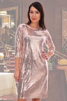 Блестящее платье пудового цвета Натали